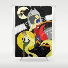 The Lunar Chronicles Shower Curtain