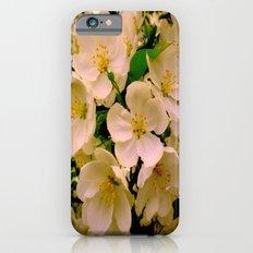 white flowers Slim Case iPhone 6s