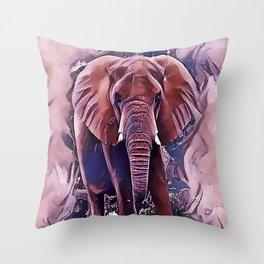 The African Bush Elephant Throw Pillow