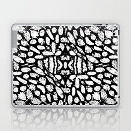 Black and White Grunge Abstract Pattern Laptop & iPad Skin