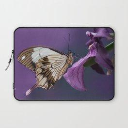 Pretty butterfly on pink flower Laptop Sleeve