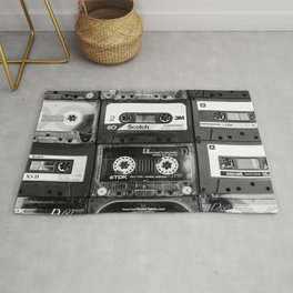 Something Nostalgic - black and white #decor #society6 #buyart Rug