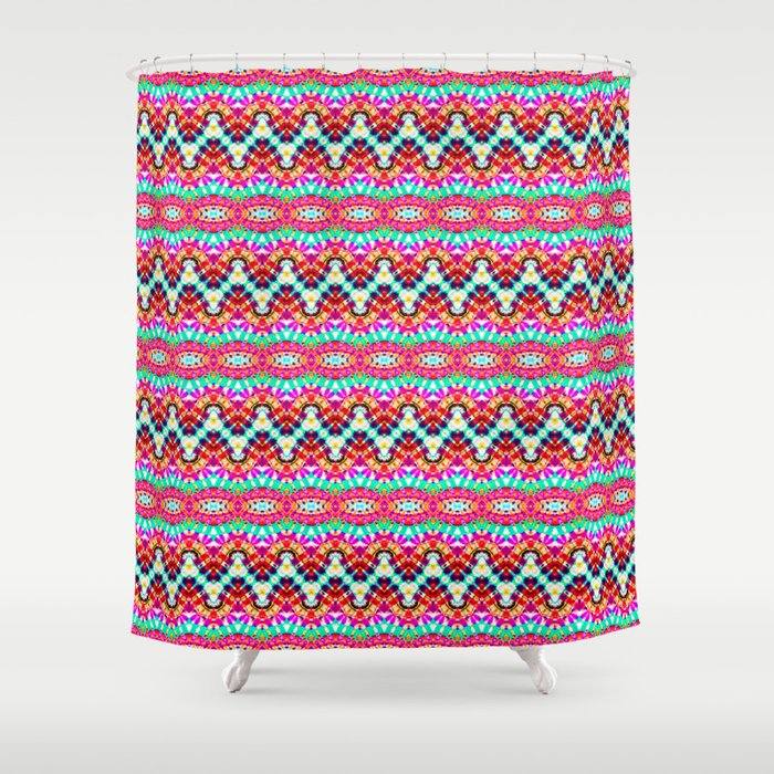 Lets Fiesta Shower Curtain By Justmeewowydesign