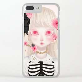 Roses & Thorns (Pink) Clear iPhone Case