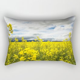 Fields of yellow - Floral Photography #Society6 Rectangular Pillow