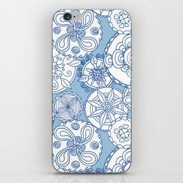 Floral Mandala Doodles - Blue iPhone Skin