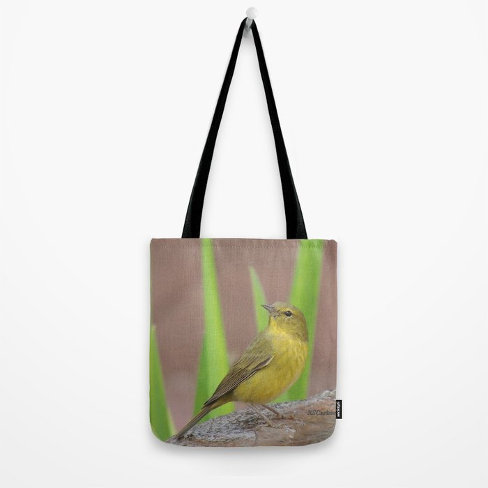 Yellow Warbler at the Fountain Tote Bag