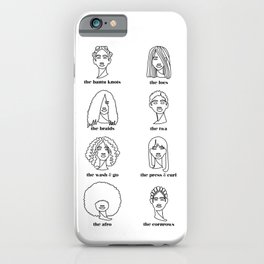 Black Hair iPhone Case