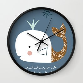 white whale kids Wall Clock