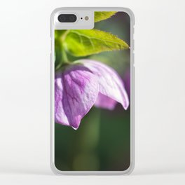 Pink Lenten Rose Clear iPhone Case