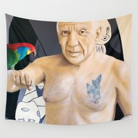 picasso Wall Tapestries featuring Picasso by Matthew Lake