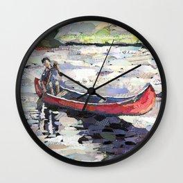 Peaceful Canoe Wall Clock