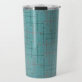Swizzle Stix on Blue Travel Mug