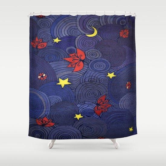 Lotus Sky Shower Curtain