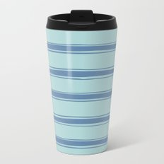 Cobalt blue french striped Travel Mug