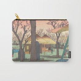 Utagawa Hiroshige - Blossoming Plum Trees At Kamata Garden - Vintage Japanese Woodblock Print Art 1856 Carry-All Pouch