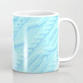Turquoise Blue Cableknit Coffee Mug