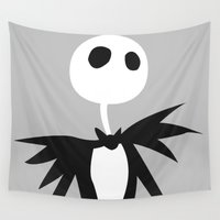 jack skellington Wall Tapestries featuring Jack by Polvo