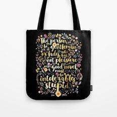 Jane Austen - Intolerably Stupid Gold Foil Tote Bag