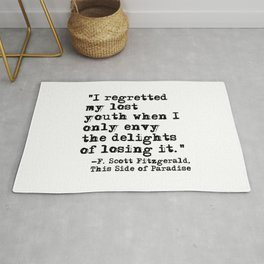 My lost youth - Fitzgerald quote Rug