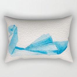 Origami-Swan Rectangular Pillow