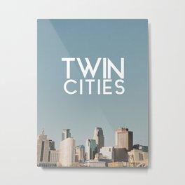 Twin Cities-Minneapolis and Saint Paul Metal Print