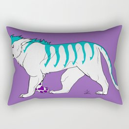 Teal Tiger Rectangular Pillow