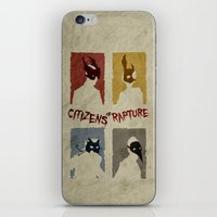 bioshock iPhone & iPod Skins featuring Bioshock - Citizens of Rapture by Art of Peach