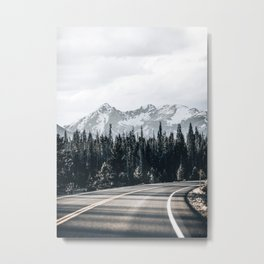 Winter Forest Trip Metal Print