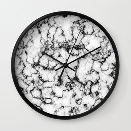Black and White Stone Wall Clock