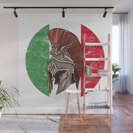 Italy Italian Spartan  TShirt Warrior Shirt Flag Gift Idea Wall Mural