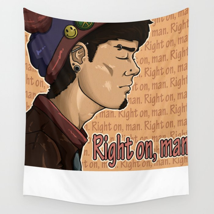 Right On Wall Tapestry
