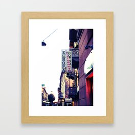 Hotel Europa Framed Art Print