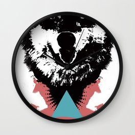 Hipster Wolf Wall Clock