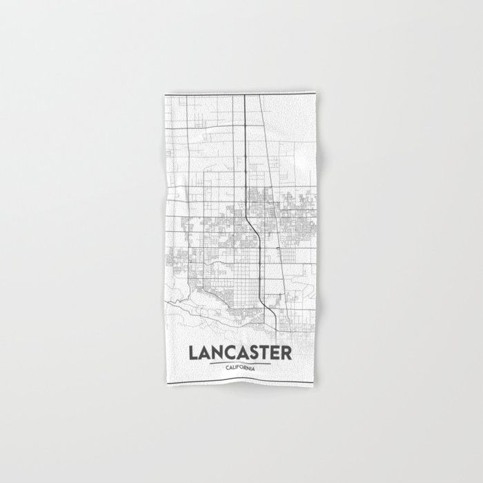 Minimal City Maps - Map Of Lancaster, California, United States Hand & Bath  Towel by valsymot