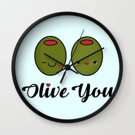 Olive You! Wall Clock