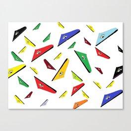 pattern triangular eyed design Canvas Print