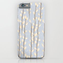 Pussy Willow Branches on Soft Grey iPhone Case
