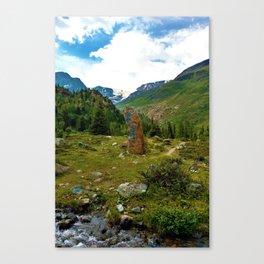 garden further alps kaunertal glacier tyrol austria europe Canvas Print