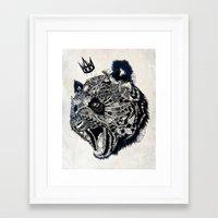 panda Framed Art Prints featuring Panda by Feline Zegers