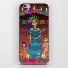 Pink Ómbre Day of the Dead iPhone Skin