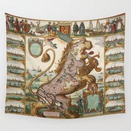 Ancient World Map #2 - Jeanpaul Ferro Wall Tapestry