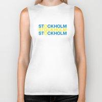 stockholm Biker Tanks featuring STOCKHOLM by eyesblau