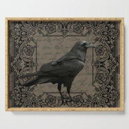Vintage Halloween raven Serving Tray
