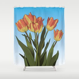 Spring Tulips Shower Curtain