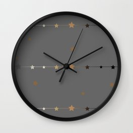 Cute Frame with golden stars  Wall Clock