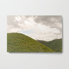 Dramatic summer mountain cloudscape Metal Print