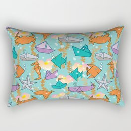 Origami Ocean Rectangular Pillow