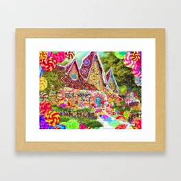 The Gingerbread House Framed Art Print