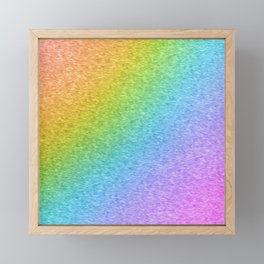 Rainbow Static Framed Mini Art Print